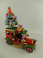 Weihnachtsauto, Blechauto, Oldtimer aus Metall Weihnachtsdeko Retro  L:38 cm