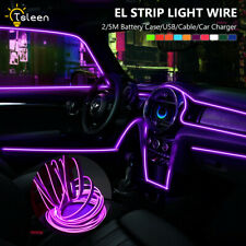 6.6ft/16.4ft DIY EL Wire LED Neon Glowing Light+Inverter For Costume Stage Car