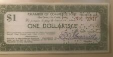 1933 Depression Clay County Kansas Chamber of Commerce $1 one dollar