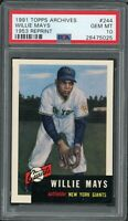 Willie Mays Giants 1991 Topps Archives 1953 Reprint Baseball Card #244 PSA 10