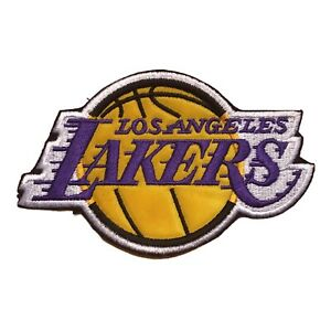 """2003 LOS ANGELES LAKERS NBA BASKETBALL 4 7/8"""" TEAM LOGO PATCH"""
