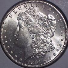 KEY DATE 1891-S SILVER MORGAN DOLLAR BU/MS,MS SUPERB QUALITY BLAST WHITE LQQK!!