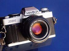 MINOLTA XG-1(late version) 35mm Film SLR Camera with MINOLTA 50mm F2 MD Lens