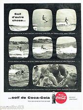 PUBLICITE ADVERTISING 036  1959  Coca-Cola  soda   ski nautique cote d'Azur