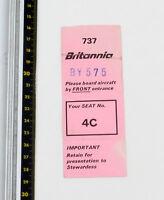 Britannia Airways - Abordando Pase - Boeing 737 BY575-1980s - Buen Estado