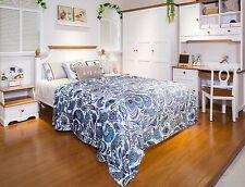 Extra Plush Jessica Micro Fiber blanket – King Size – Teal Paisley – SHIP FREE!