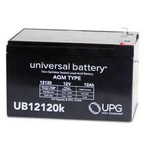 NEW UPG UB12120 F1 12V 12Ah SLA Battery Replaces Currie F-18 Electric Scooter