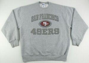 Vintage Pro Player NFL San Francisco 49ers Crew Neck Sweater Size Men's XL