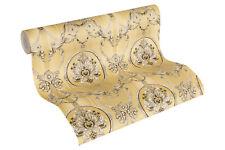 Luxus Vliestapete klassischer Barock beige gold metallic 33083-1 Hermitage