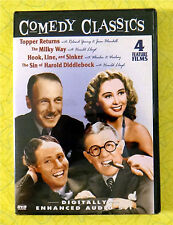 Comedy Classics 4 Feature ~ New DVD Movie  Topper Returns Mily Way Hook Line Sin