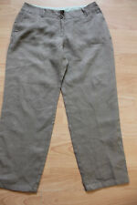 BODEN  mid brown linen crop trousers size 8P NEW   WM312