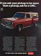 1976 GMC Sierra Classic 15 Fenderside Pickup Truck General Motors GM Print Ad