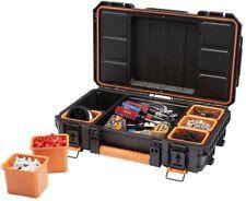 RIDGID 22 in. Pro Tool Organizer Storage Small Parts Toolbox Lockable Black
