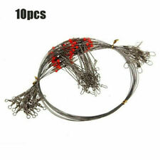 10x Fishing Wire Leader Trace With Snap&Swivel Fish Tackle Double Drop-Arms NEW