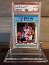 Michael Jordan 1988-89 Fleer Sticker #7 PSA 8 NM-MT. Brand new slab!
