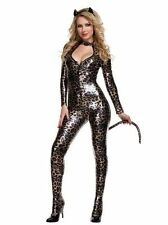Sexy halloween Catsuit Catwoman Outfit PVC Costume Fancy Dress Leather Leopardd