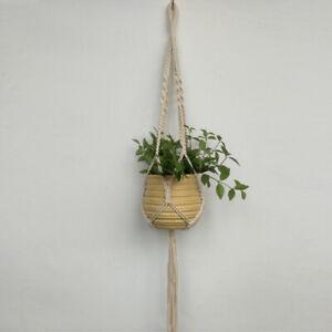 Rustic Knit Macrame Plant Hanger Garden Planter Flower Pot Basket Holder Ropes