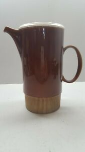 Poole Pottery Chestnut Coffee Pot Sugar Bowl and Coffee Cans/Cups