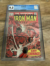 IRON MAN 13 CGC 9.2 - Controller and Nick Fury appearance - White Pages!