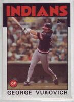 1986 Topps Baseball Cleveland Indians Team Set