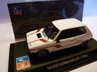 SIM25 Voiture 1/43 IXO altaya SIMCA : TALBOT Samba Rallye 1983 civile 3 portes