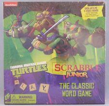 Scrabble Junior Teenage Mutant Ninja Turtles  Board Game Nickelodeon 2 Sided NEW