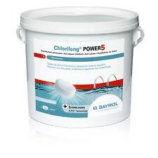 Chlorilong POWER 5 - seau 5kg - traitement chlore piscine - BAYROL