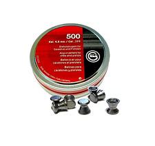 500 pallini dianadiabolo per carabina aria compressa cal. 4.5mm piombini piatti