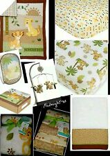 NEW 12 PIECES DISNEY BABY THE LION KING SIMBA UNDER THE SUN CRIB BEDDING SET.