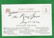 More details for to the king's guest coronation dinner 5th july 1902 edward vii royalty ref m585