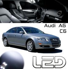 AUDI A6 C6 Pack 16 Ampoules LED Blanc Miroir courtoisie Sols Pieds portes Coffre