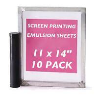 "Emulsion Sheets - 10 Pack - 11""x14"" DIY Yudu Style Screen Printing - 30 Microns"