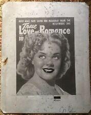 "Rare Love Pulp Printing Plate ""True Love & Romance"" Production Metal Cover OOAK"