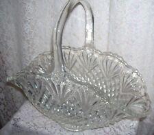Large Antique Pressed Glass Basket