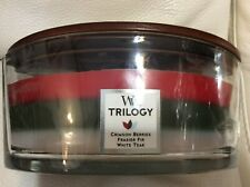 Woodwick Trilogy Winter Garland Ellipse Candle 16oz Yankee Hearthwick NEW!