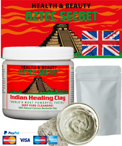 Aztec Secret INDIAN HEALING CLAY 100% Natural calcium bentonite Face Mask 100g