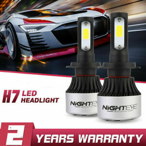Nighteye Pair H7 Car LED Headlight 72W 9000LM Conversion Kit Globes Bulb 6500K