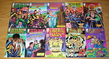 Liberal Man #1-10 VF/NM complete series pokes fun at liberals & democrats - set