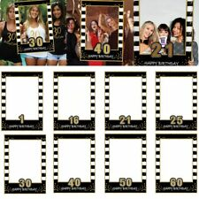 Anniversary Birthday Party Wedding Selfie Photo Booth Frame Props Paper Supplies