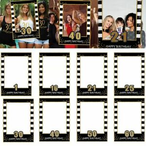 Selfie Photo Booth Frame Props 30th 40th 50th 60th Anniversary Wedding Birthday