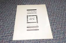Adcrafters Typographic Typography Linotype Ludlow Monotype Graphics Catalog