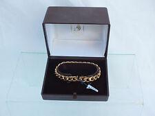 + Bracelet Pl Or à mailles Américaines Oria Etat Neuf avec Ecrin et Étiquette +