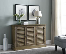 Kings Brand Antique Wash Rustic Wood Buffet Sideboard Console Table With Storage