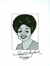 "ISABEL SANFORD ""Weezy"" The Jeffersons Signed Auto 8.5x11 Cartoon Autograph a"