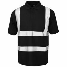 New Supertouch Mens Hi Vis High Visibility Short Sleeve Buttoned Polo Work Shirt