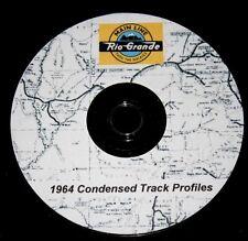 Denver & Rio Grande Western RR 1964 Mainline Condensed Track Profile Pages  DVD