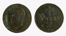 pci3949) NAPOLI - Francesco II di Borbone (1859-1860) - 10 Tornesi 1859
