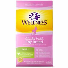 Wellness Complete Health Natural Dry Toy Breed Dog Food, Chicken  Rice, 4-Pound