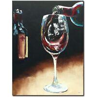 ORIGINAL Acryl Bild Gemälde Abstrakt Malerei Kunst Modern UNIKAT Art Wein Glass