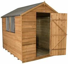 Forest 8 x 6ft Overlap Dip Treated Wooden Apex Shed